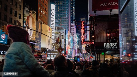 istock Crowds in Times Square 1128930884