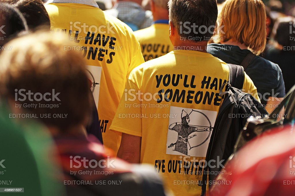 Crowds leaving Archery event 2012 royalty-free stock photo