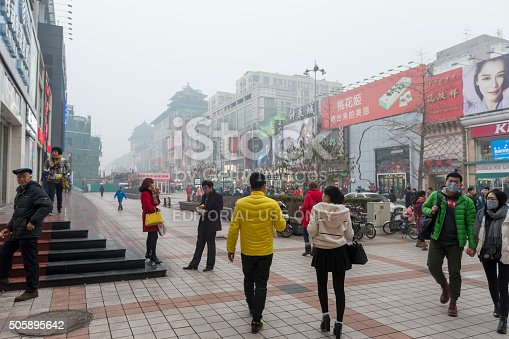 171300639istockphoto Crowds of people in the shopping street of Wangfujing, China 505895642