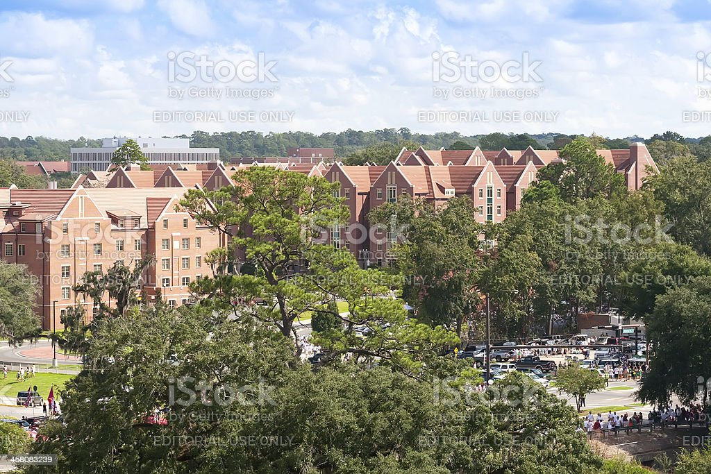 Crowds on Campus at Florida State University, Tallahasee, Florid royalty-free stock photo