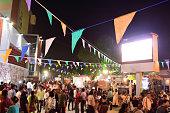 Crowds is walking in a social festival