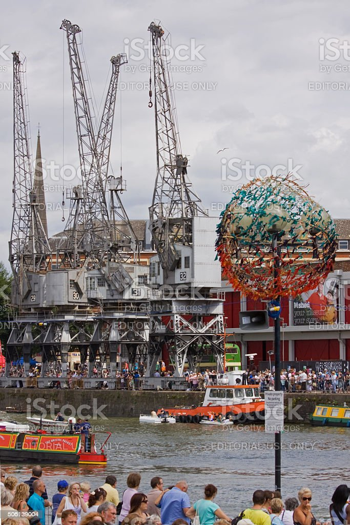 Crowds throng the Bristol docks for the annual Harbour Festival stock photo