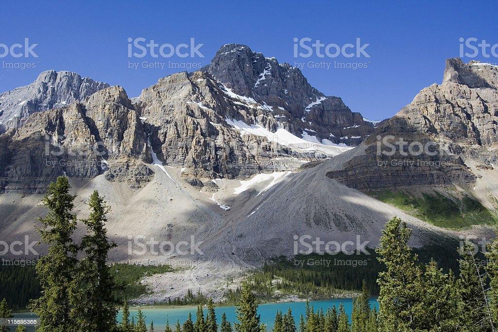crowfoot glacier stock photo