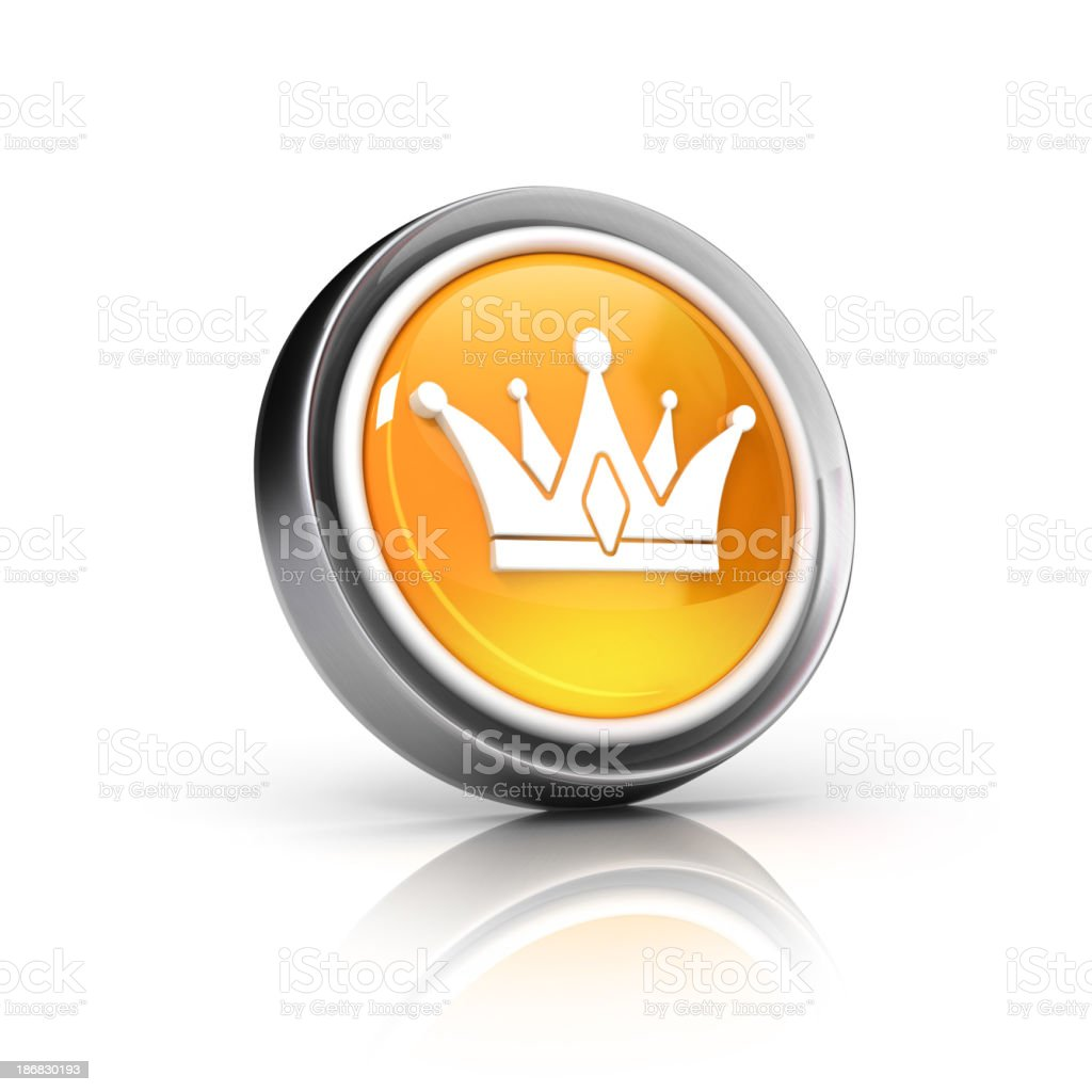 Crown 3d icon stock photo