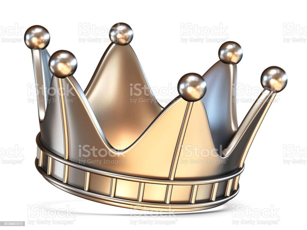 Crown 3D render stock photo