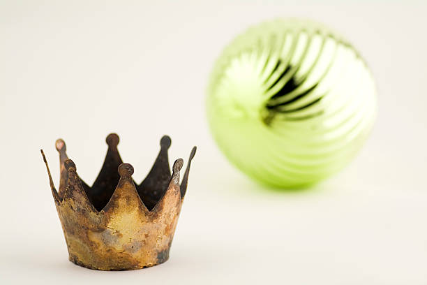 crown and ball stock photo