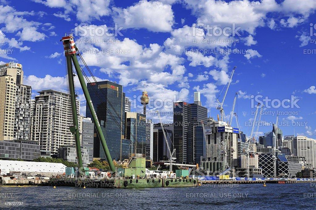 Crown casino under construction in Barangaroo, Sydney royalty-free stock photo