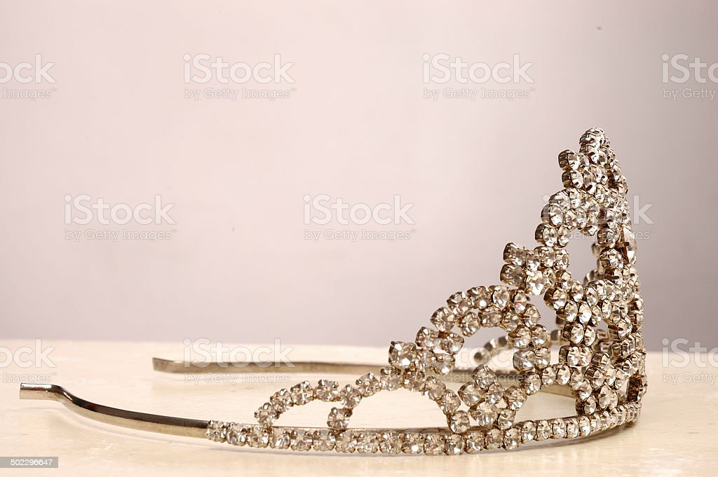 Crown, created for the beautiful girl, silver, gold, jeweled. stock photo
