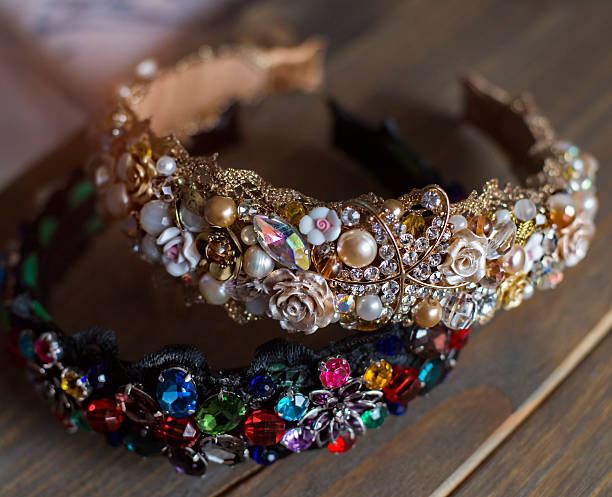 crown for hair to the fashionable girl, a trend - diadem stock pictures, royalty-free photos & images