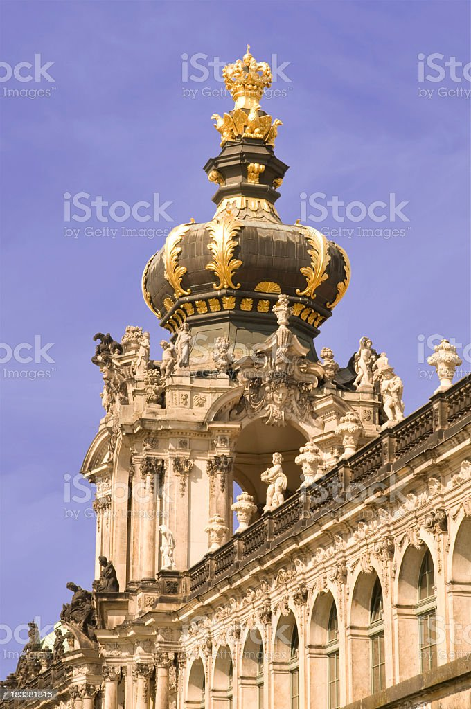 Crown gate of the Dresdens Zwinger, Germany stock photo