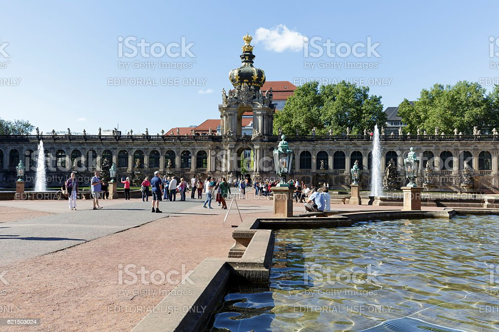 Crown Gate of Zwinger, Dresden foto stock royalty-free