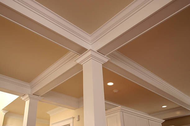 crown molding detail - crown stock photos and pictures