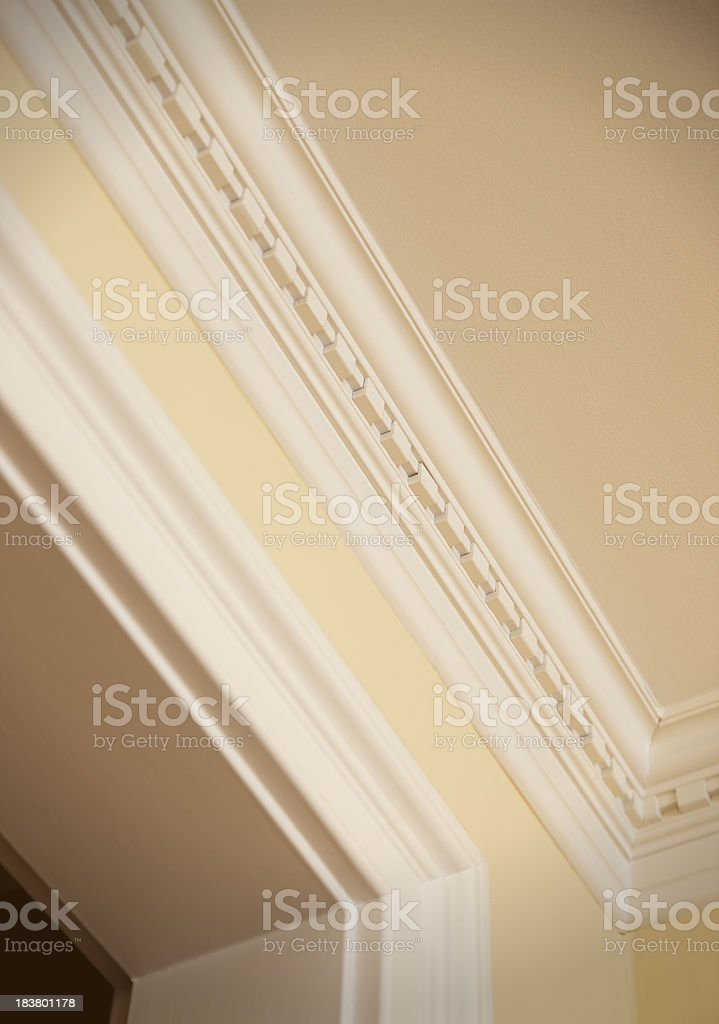 Crown moulding detail stock photo