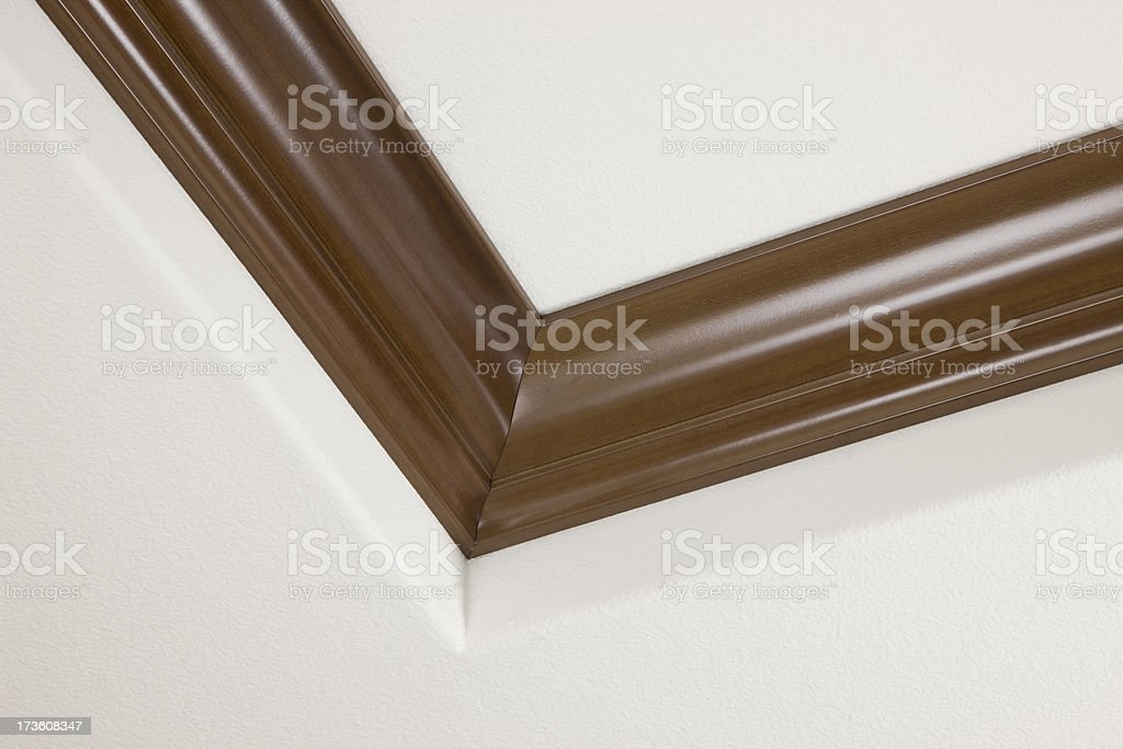 Crown Moulding on Ceiling, Architecture, Construction, Materials, Decorative Finish royalty-free stock photo
