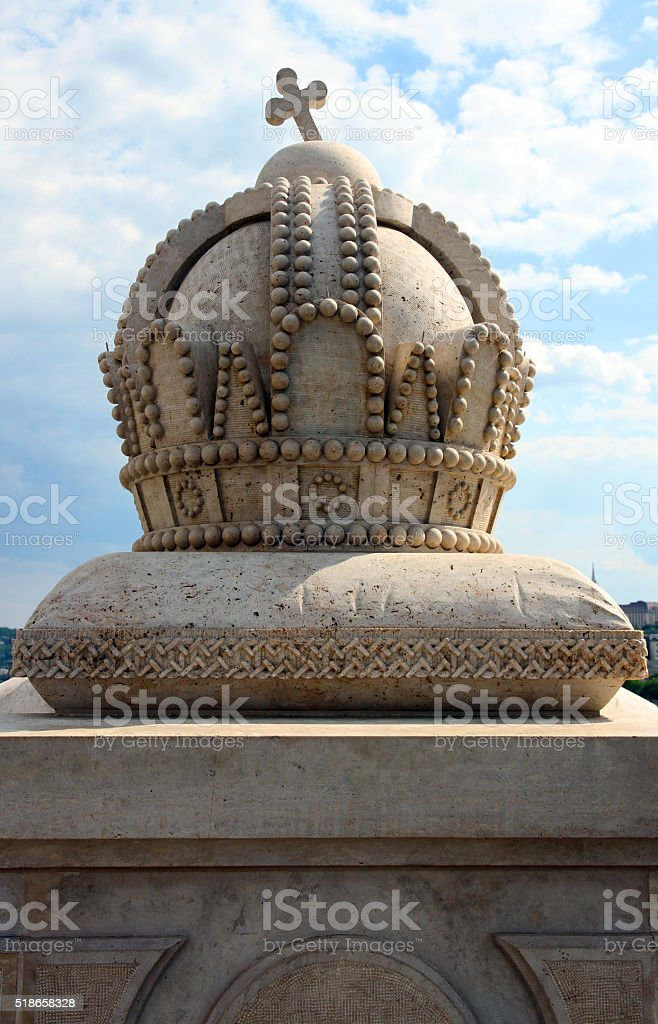 Crown of Hungary stock photo