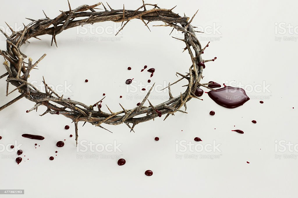 Crown of Thorns and Blood stock photo