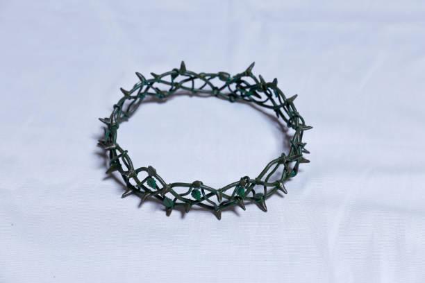 Crown of Thorns Calvary of Jesus Christ stock photo