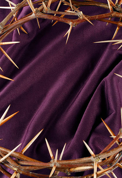 Crown of Thorns Good Friday Background stock photo