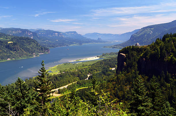 Crown Point and the Columbia River Gorge stock photo