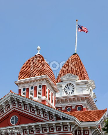 The Historic Crown Point Courthouse, in the state of Indiana, USA