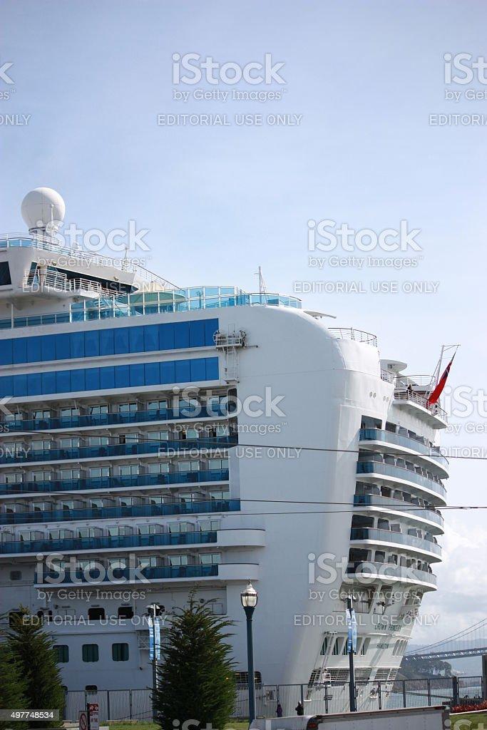 Crown Princess Cruise ship at Port in San Francisco, USA stock photo