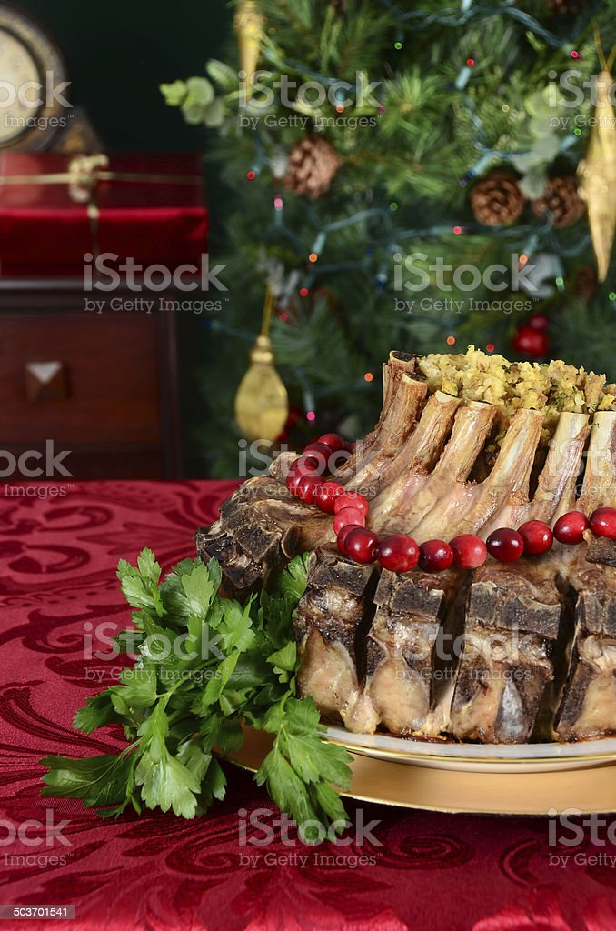 Crown Roast of Pork royalty-free stock photo