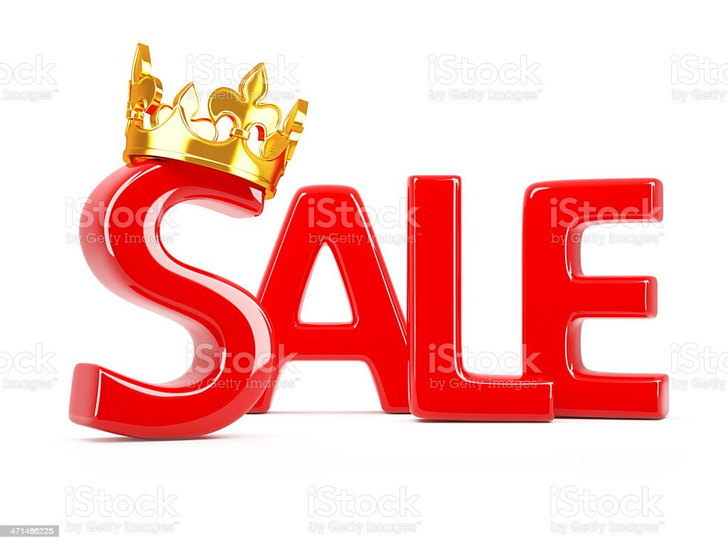 Crown sale royalty-free stock photo