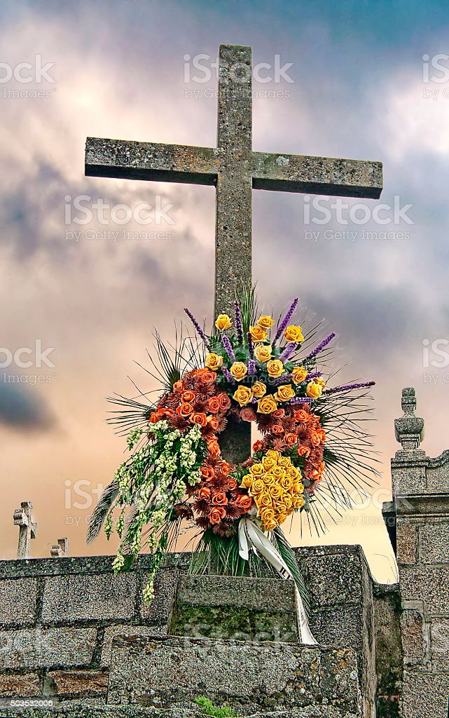 Crowned cross royalty-free stock photo