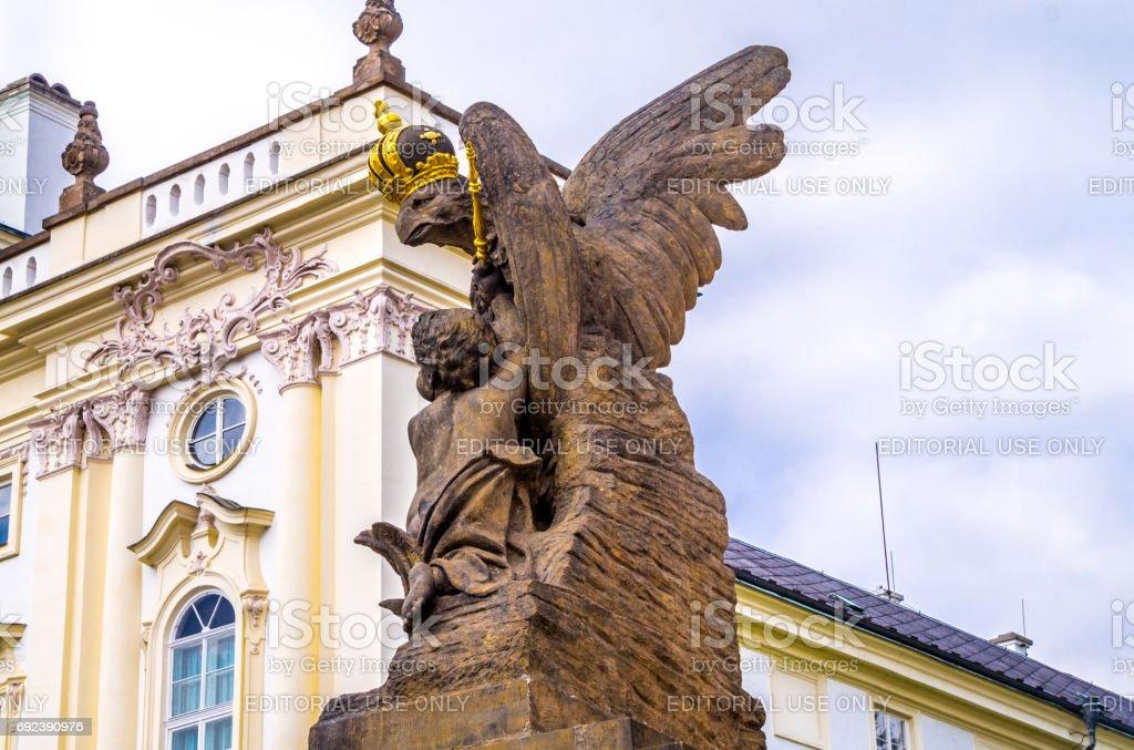 Crowned Heraldic Eagle The Symbol Of European Royal Dynasties Statue