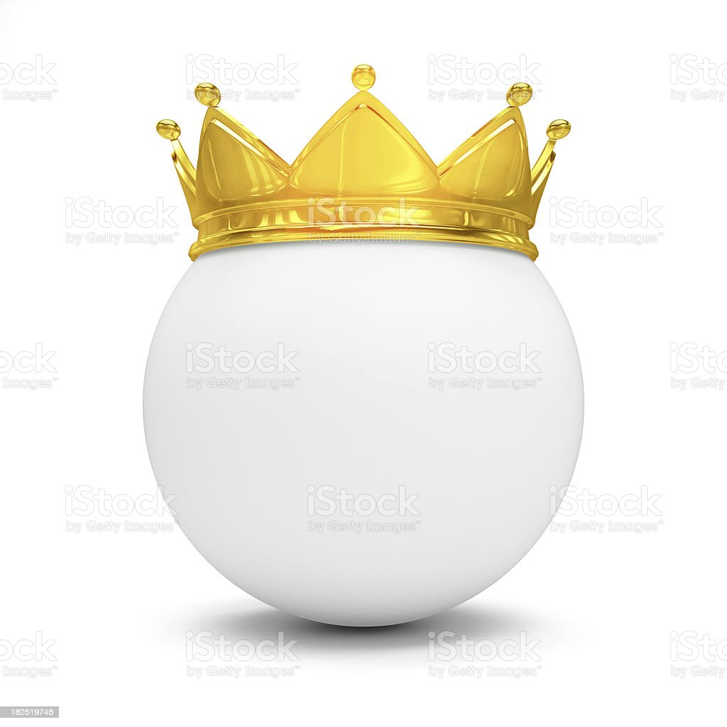 Crowned Sphere royalty-free stock photo