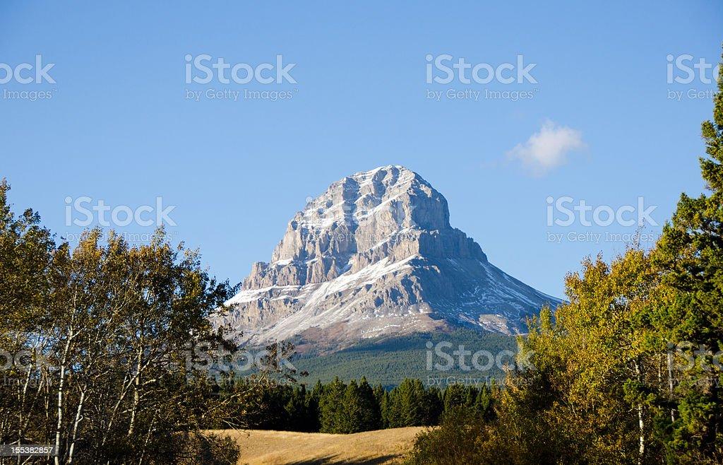 Crowsnest Mountain royalty-free stock photo