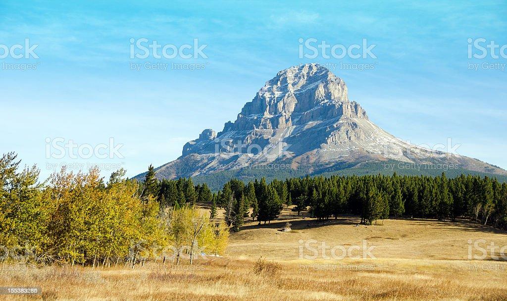 Crowsnest Mountain stock photo