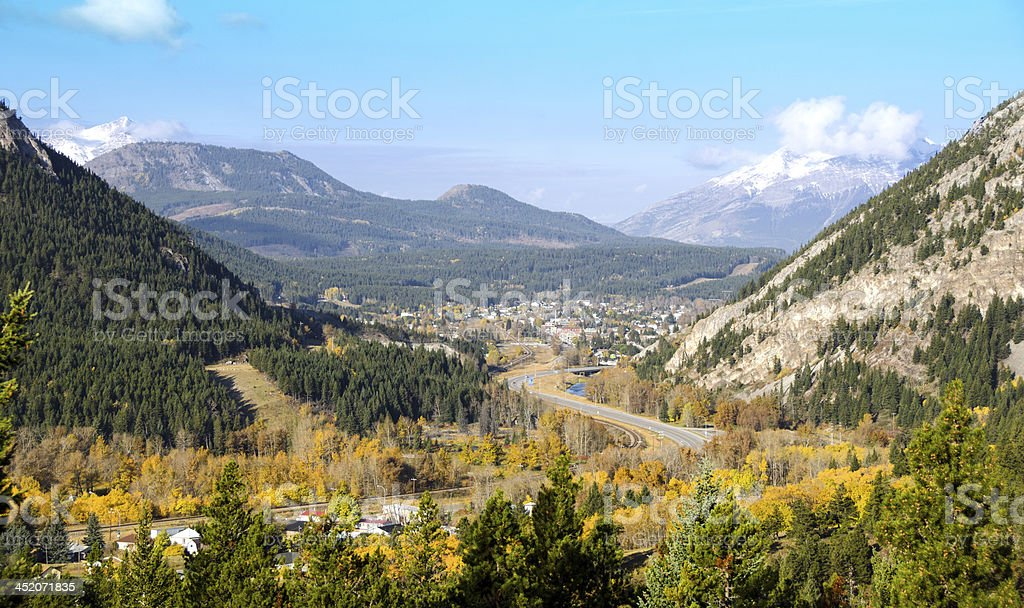 Crowsnest Pass and Blairmore. stock photo