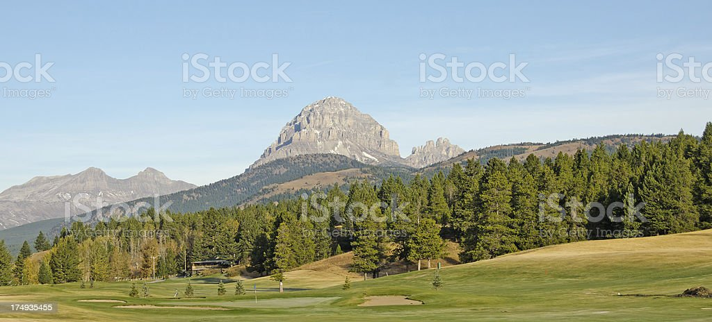 Crowsnest Pass Golf Course stock photo
