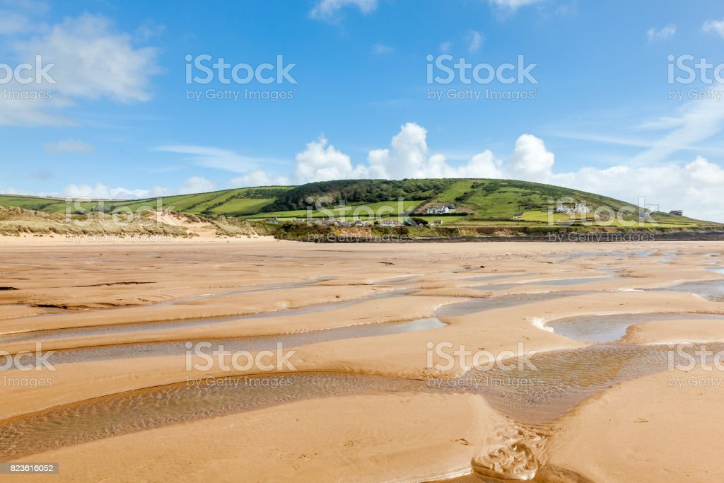 Croyde Beach Devon England UK stock photo