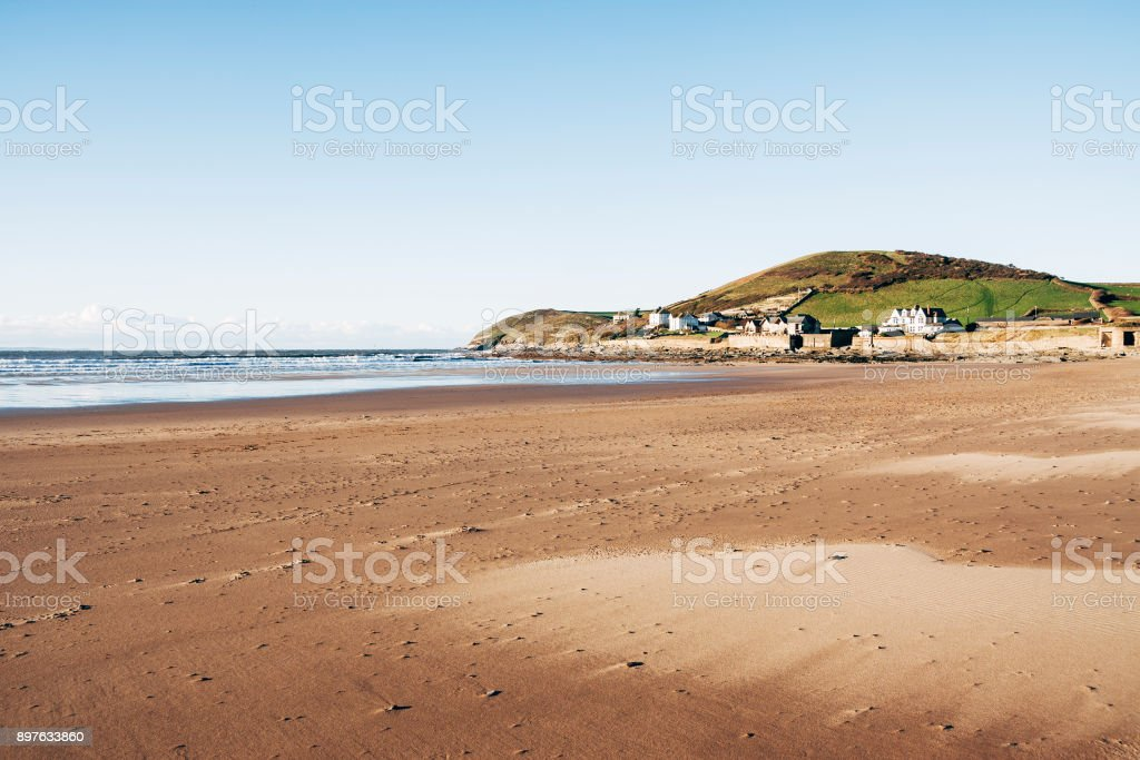 Croyde beach on the coast of North Devon, England stock photo