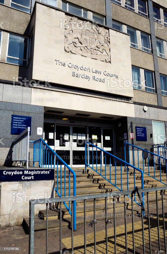 Croydon Law Courts royalty-free stock photo