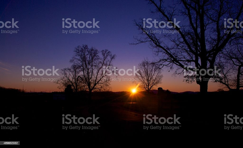 Crozet Dawn stock photo
