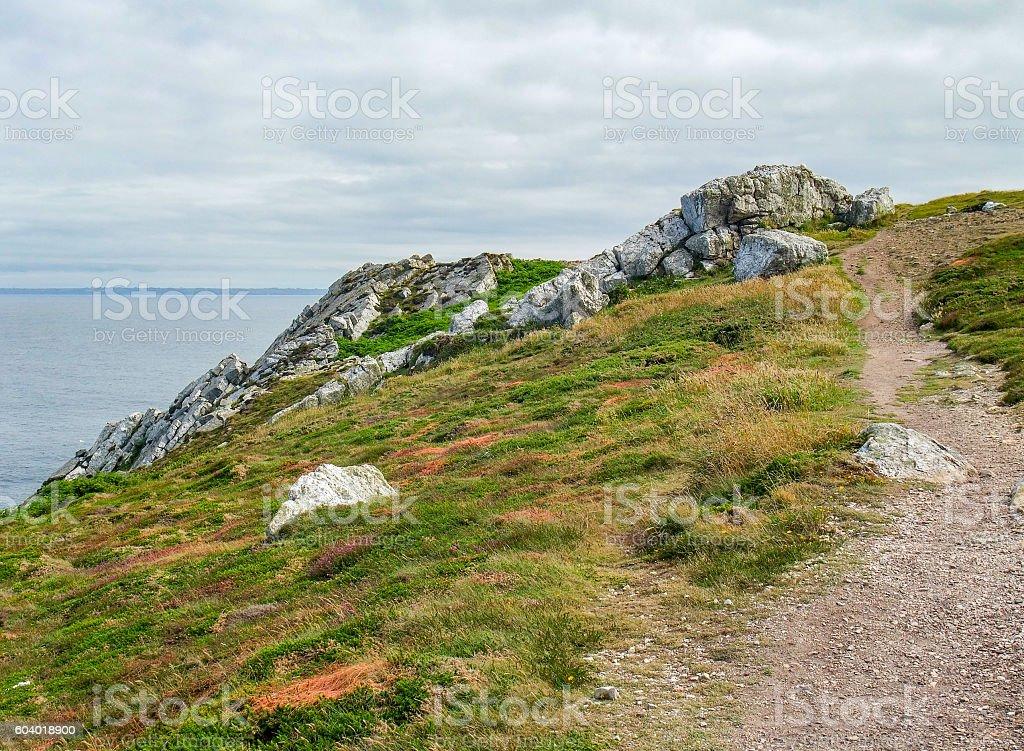 Crozon peninsula in Brittany stock photo