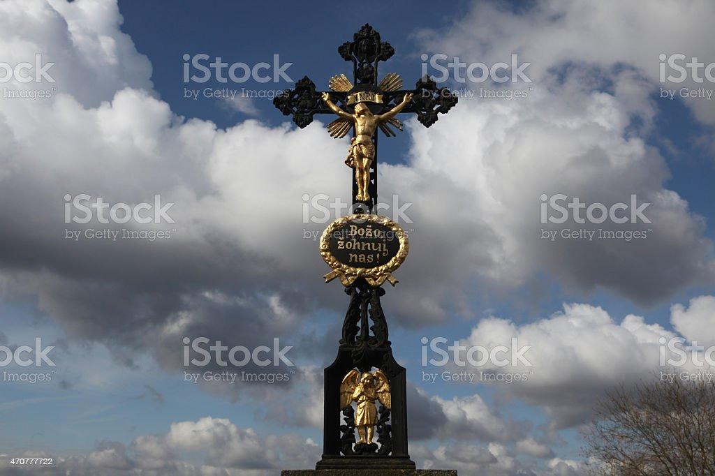 Crucifix in Ralbitz, Germany. stock photo