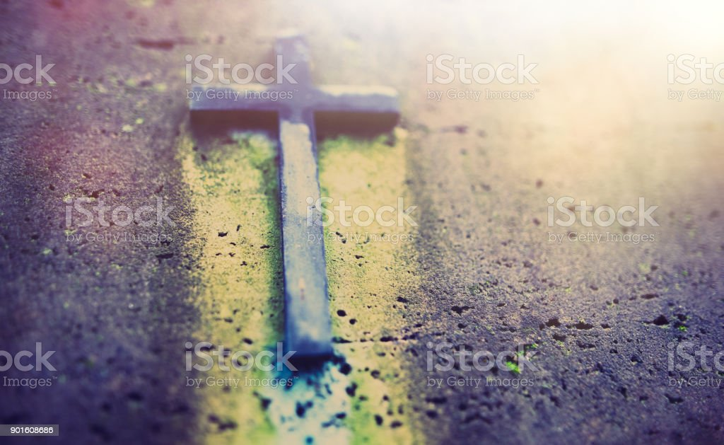 Crucifix - it is not the end stock photo