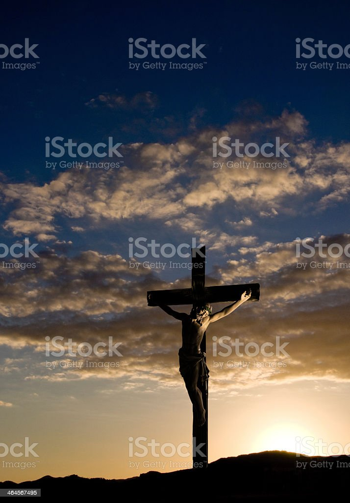 Crucifix on Good Friday stock photo