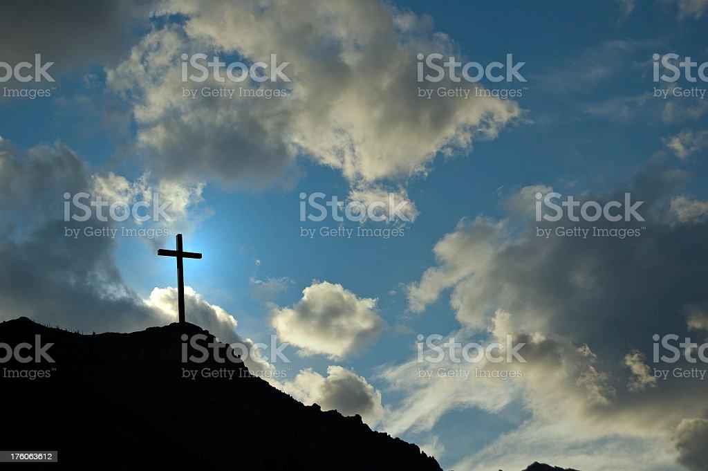 Crucifix on Mountain royalty-free stock photo
