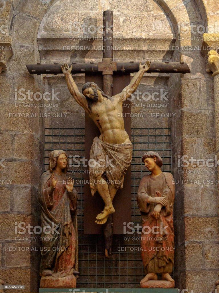 Crucifix - Santiago de Compostela stock photo