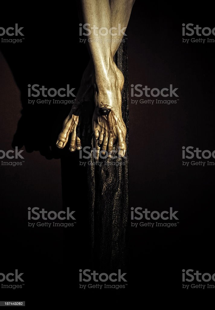 crucifixion detail royalty-free stock photo