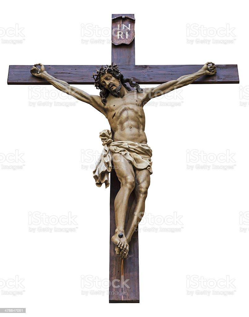 Crucifixion isolated stock photo