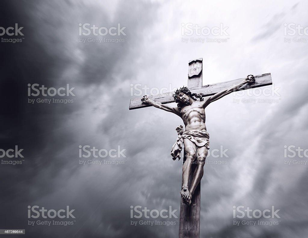 Crucifixion of Jesus Christ stock photo