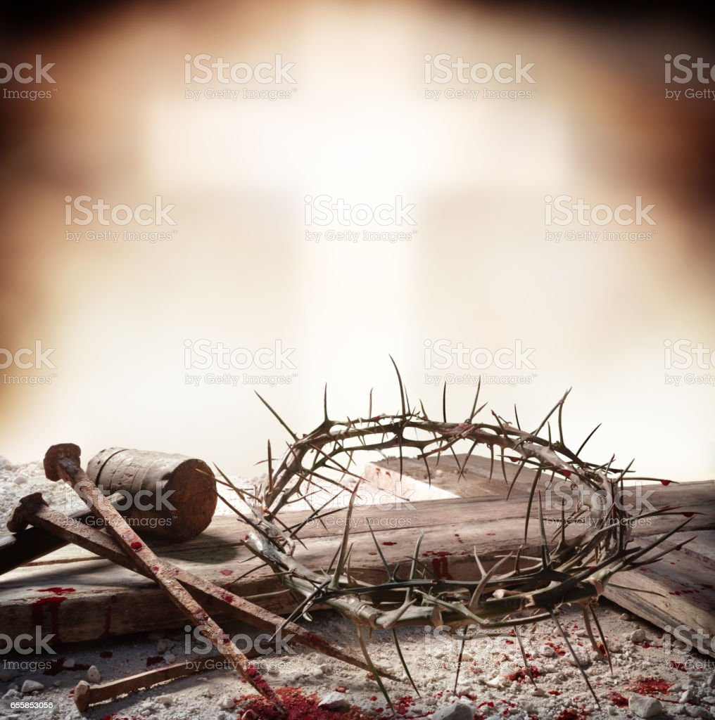Crucifixion Of Jesus Christ stock photo