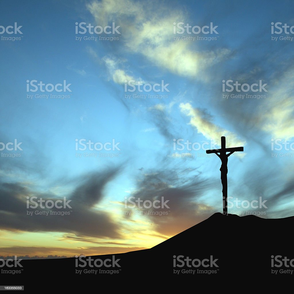 Crucifixion stock photo