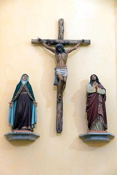 Kreuzigung Szene, San Pedro cruz-american football player-Kirche in Cartagena, Kolumbien – Foto